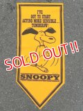 "ct-160901-38 PEANUTS / 60's Banner ""Snoopy"" Yellow"