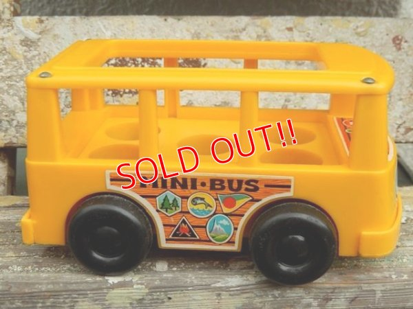 画像3: ct-161001-08 Fisher-Price / 1969 MINI BUS (Yellow)