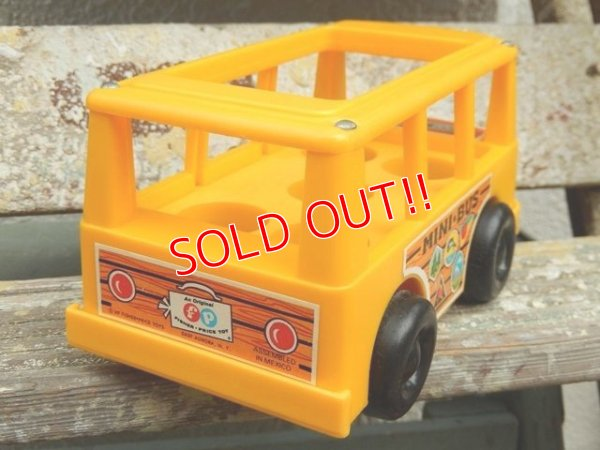 画像4: ct-161001-08 Fisher-Price / 1969 MINI BUS (Yellow)