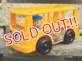 ct-161001-08 Fisher-Price / 1969 MINI BUS (Yellow)