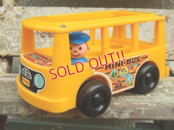 画像1: ct-161001-08 Fisher-Price / 1969 MINI BUS (Yellow)