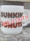 dp-161101-08 DUNKIN' DONUTS / Glasbake 60's Mug 【JUNK】