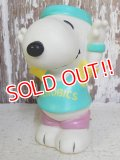 "ct-161110-12 Snoopy / 80's Vinyl Squeak Toy ""Aerobics"""