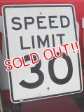 dp-161118-14 Road Sign / SPEED LIMIT 30