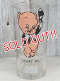 gs-170111-02 Porky Pig / PEPSI 1973 Collector series glass (short)