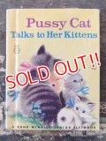 bk-170301-03 Pussy Cat Talks to Her Kittens / Vintage ELF Books