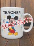 """ct-170803-50 Walt Disney World / 1980's """"TEACHER"""" Mug"""