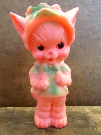 bt-121023-04 Sun Rubber / Ruth E Newton 50's Cat squeaky ...