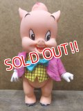 "ct-110822-06 Porky Pig / R.DAKIN 70's figure ""Pink jacket"""