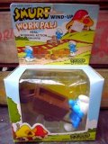 "ct-110208-04 Smurf / 80's Wind Up ""WORK PALS"" BOX"