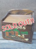 kt-121107-05 Vintage Wood Recipes Box