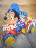 "fp-101211-05 Mickey Mouse / ""SAFETY PATROL"" 50's Pull Toy"