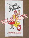 ct-130625-21 McDonald's / Ronald McDonald Vinyl Pencil Case