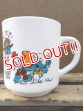 gs-130716-16 Smurf / 1991 Milk glass mug (France)