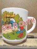 gs-130716-13 Smurf / 1986 Milk glass mug (France)