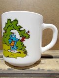 gs-130716-12 Smurf / 1984 Milk glass mug (France)