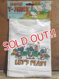 """ct-130702-28 Smurf / 80's Plush doll T-Shirt """"Let's Play!"""""""