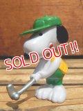"ct-130821-25 Snoopy /  Schleich 80's PVC ""Golf"""