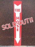 dp-130908-01 FIRE HOSE Plastic sign