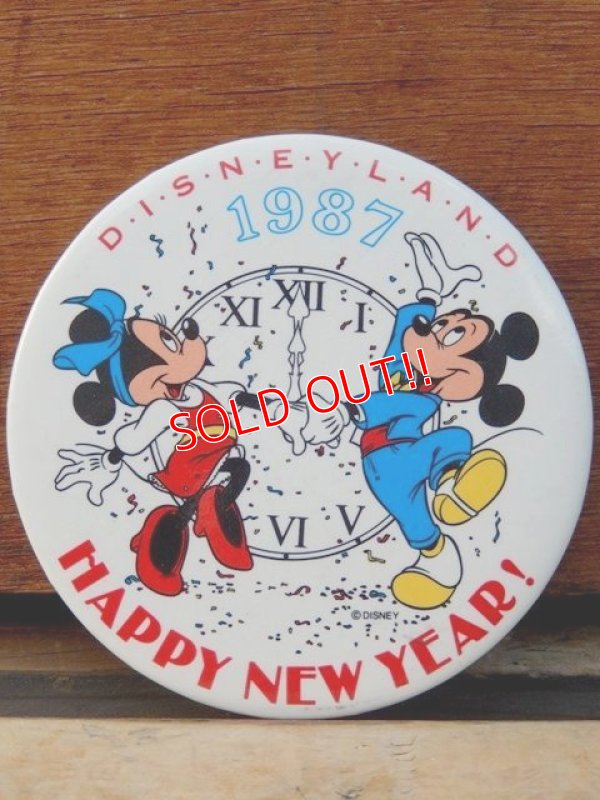 画像1: pb-909-04 Disneyland / 1987 Happy New Year Pinback