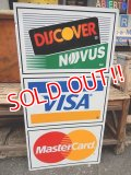 dp-131001-07 Discover × VISA × Master Card / W-side metal sign