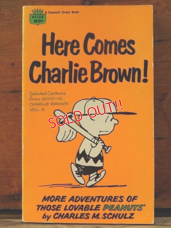 "画像1: bk-1001-20 PEANUTS / 1960 Comic ""Here Comes Charlie Brown!"""