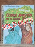 bk-130607-09 Sesame Street COOKIE MONSTER AND THE COOKIE TREE / 70's Little Golden Books