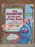 bk-130607-06 Sesame Street the Monster at the end of this Book / 70's Little Golden Books