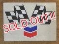 ad-1218-30 Chevron / Checkered flag sticker
