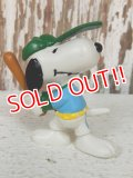 "ct-140218-17 Snoopy / Schleich 80's PVC ""Baseball"""