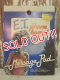 ct-140304-32 E.T. / 80's Phone home! Message Pad