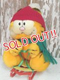 "ct-140415-34 Garfield / R.DAKIN 80's Plush Doll ""Snow Flyer"""