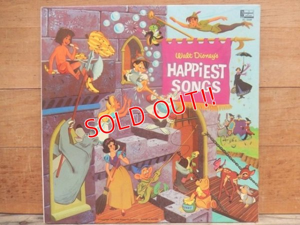 画像1: ct-140510-27 Walt Disney's / Happiest Songs 60's Record