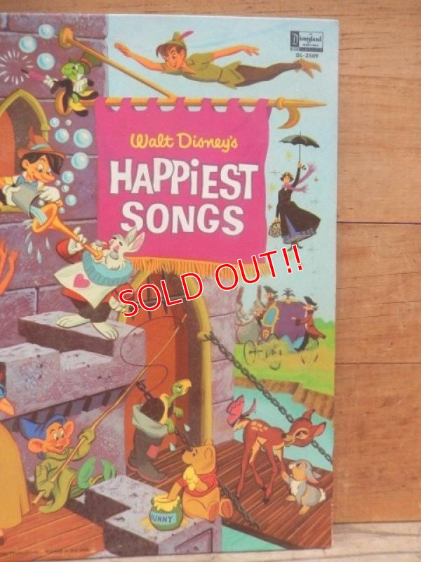 画像4: ct-140510-27 Walt Disney's / Happiest Songs 60's Record