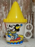 ct-140610-07 Mickey Mouse & Donald Duck / 70's Plastic Mug