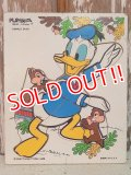 ct-140611-01 Donald Duck / Playskool 70's Wood Puzzle