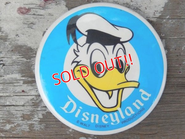 画像1: ct-140617-20 Donald Duck / Disneyland 70's Pinback
