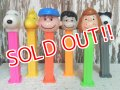 pz-130917-04 Peanuts / 90's PEZ Dispenser Set of 6
