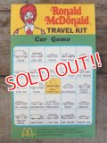 ct-140701-20 McDonald's / Ronald McDonald 70's-80's Travel Kit Car Game