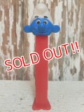 pz-130917-04 Smurf / 90's PEZ Dispenser (Red stem)
