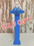 pz-130917-04 Smurf / 90's PEZ Dispenser (Blue stem)