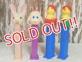 pz-130917-04 Easter / Early 90's PEZ Dispenser set of 4
