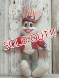 "ct-141014-07 Bugs Bunny / DAKIN 70's Plush doll ""Uncle Sam"""