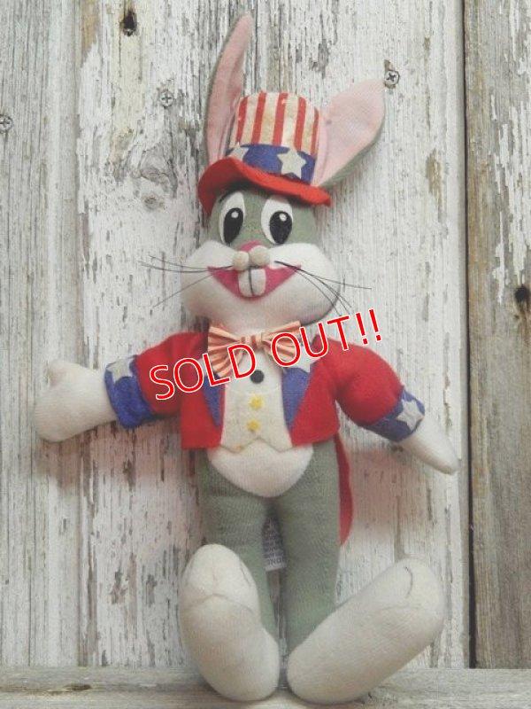 """画像1: ct-141014-07 Bugs Bunny / DAKIN 70's Plush doll """"Uncle Sam"""""""