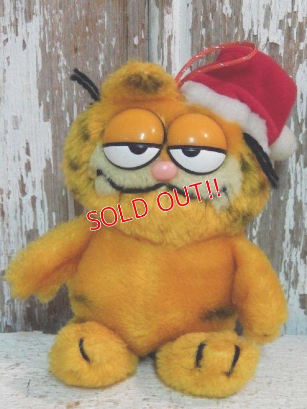 """画像1: ct-140909-25 Garfield / Dakin 80's Plush Doll """"Santa"""""""