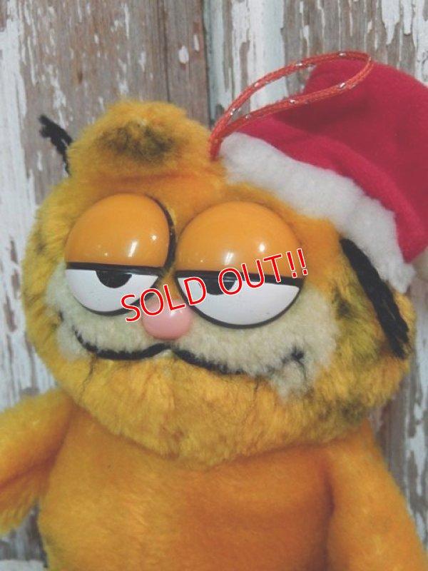 """画像2: ct-140909-25 Garfield / Dakin 80's Plush Doll """"Santa"""""""