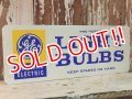 dp-141126-01 General Electric / 60's-70's LIGHT BULBS W-side metal sign