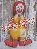 ct-150127-08 McDonald's / Ronald McDonald's 70's-80's Pillow doll (Korea)