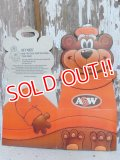 ct-150901-09 A&W / Great Root Bear 80's-90's Paper Box