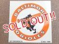 ct-150701-22 Baltimore Orioles / 80's Window Sticker